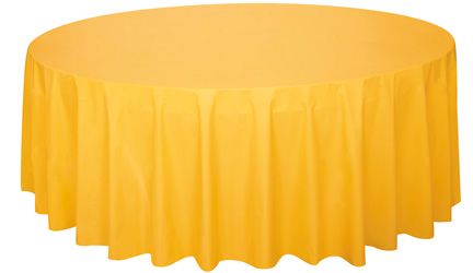 sunflower yellow round table cover