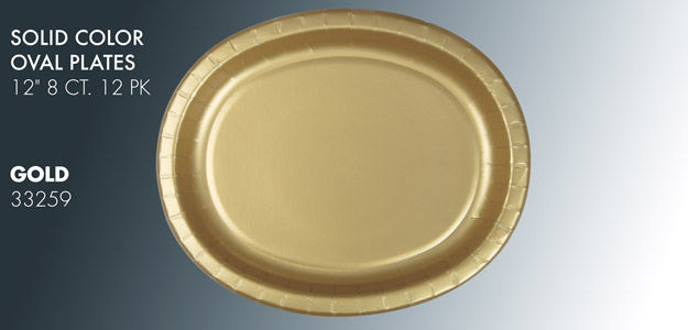 Solid Color Oval Plates
