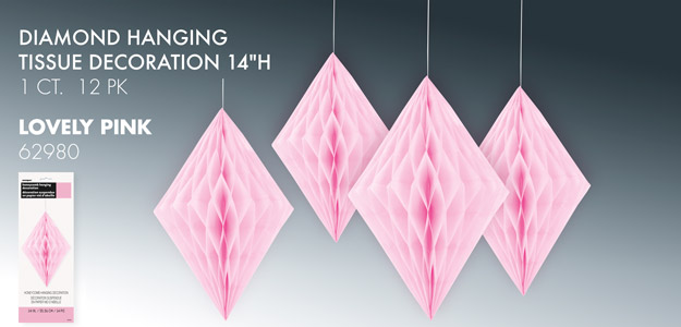 Diamond Hanging Tissue Decoration