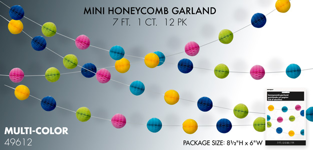 Mini Honeycomb Garland