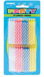34014 SPIRAL CANDLES 34014 Spiral Candles Assorted