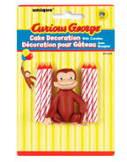 21229 Curious George Cake Decorator with 6 Candles