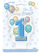 23950 First Birthday Balloons Ble Candle