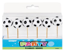 34062 Soccer Ball Pick Candles