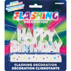 37043 Flashing Happy Birthday Cake Decoration