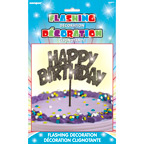 90877 Flashing Birthday Decoration Black