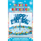 90878 Flashing Birthday Decoration Blue