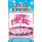 90879 Flashing Birthday Decoration Pink