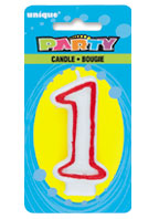 360-1 Deluxe Numeral 1 Candle