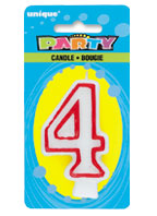360-4 Deluxe Numeral 4 Candle