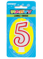 360-5 Deluxe Numeral 5 Candle