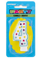 34004 Party Numeral 4 Candle