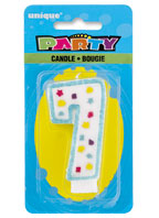 34007 Party Numeral 7 Candle