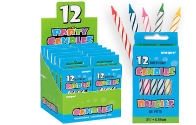 1902MC Spiral Multi Color Birthday Candles